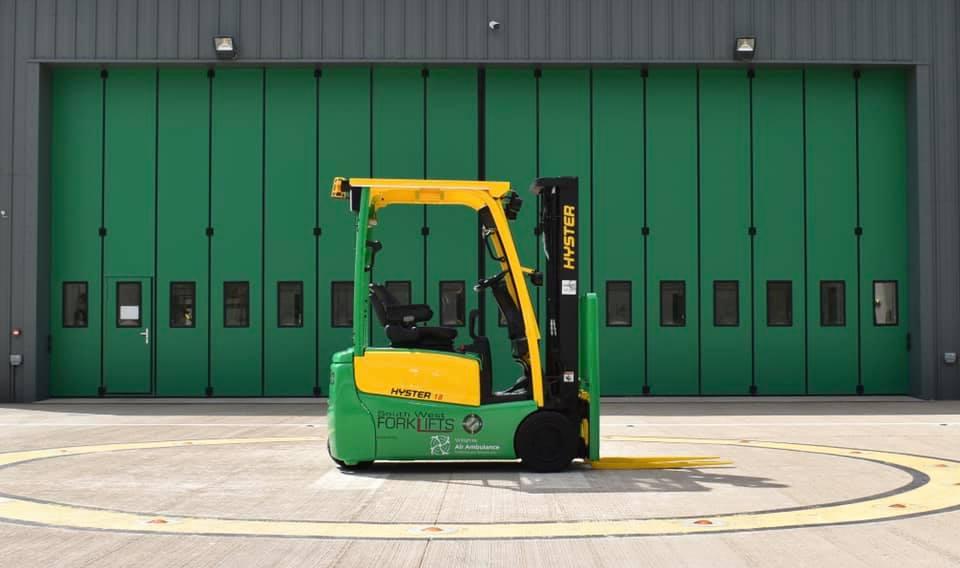 Wiltshire Air Ambulance Forklift